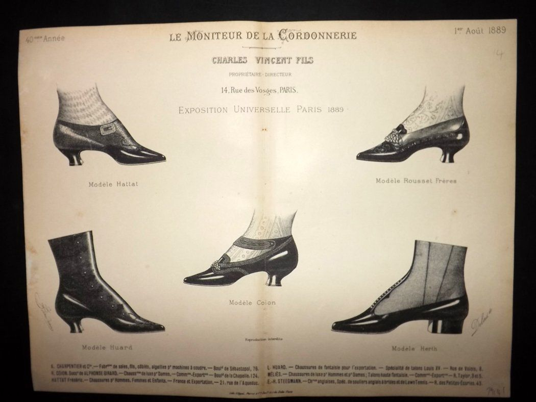 le moniteur de la cordonnerie 1889 rare antique shoe. Black Bedroom Furniture Sets. Home Design Ideas