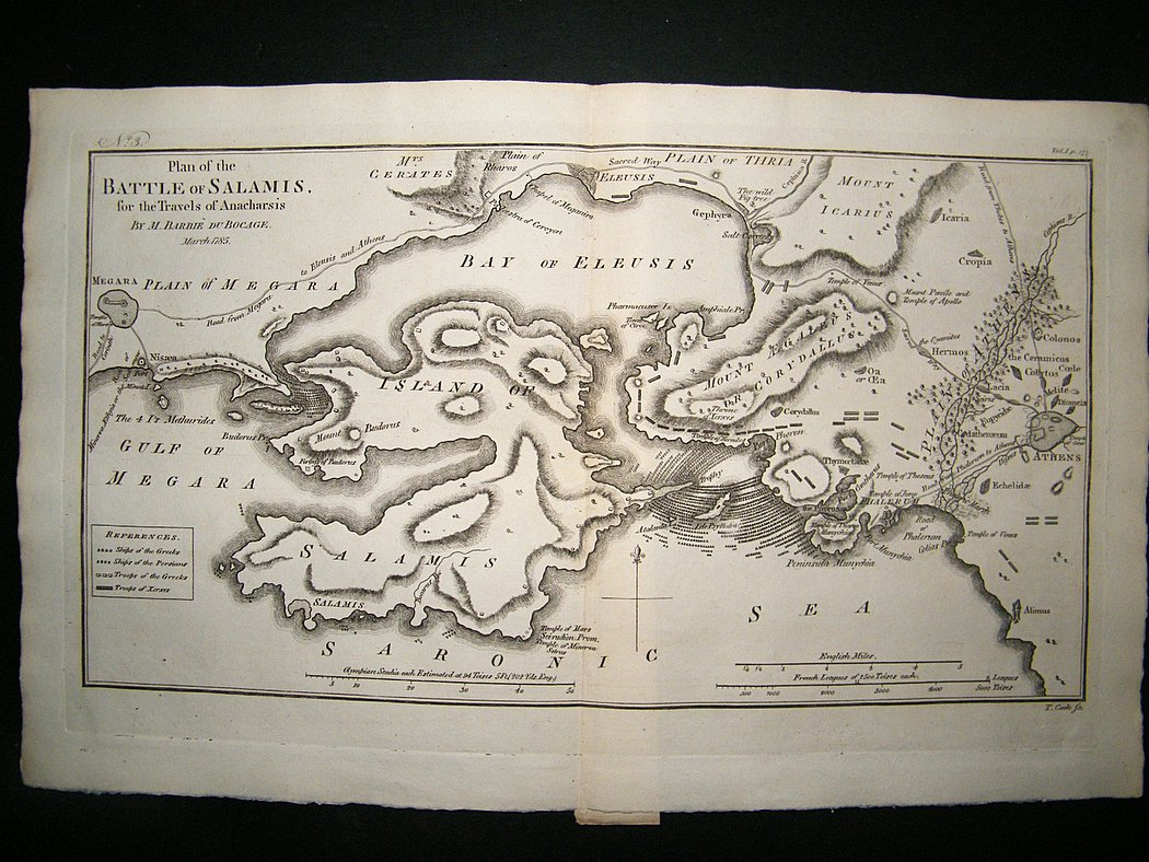 Battle of Salamis Map Map Battle of Salamis