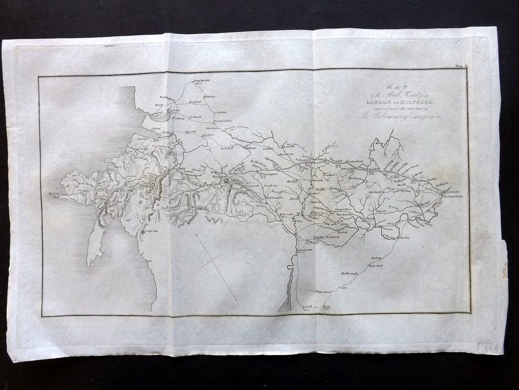 Map Of England Holyhead.Paterson 1826 Map Of The Mail Road From London To Holyhead