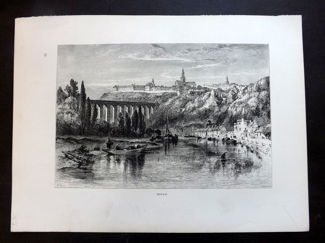 Picturesque Europe C1875 Antique Print. Dinan, France