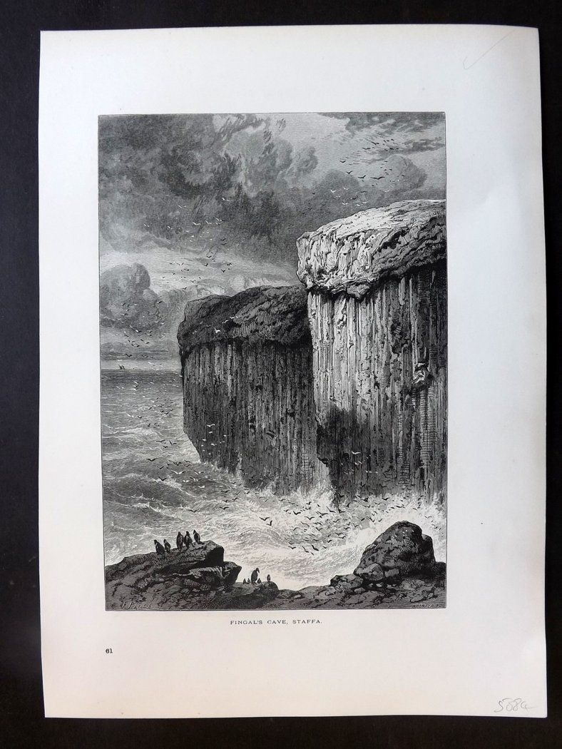 Picturesque Europe C1875 Antique Print. Fingal's Cave, Staffa, Ireland
