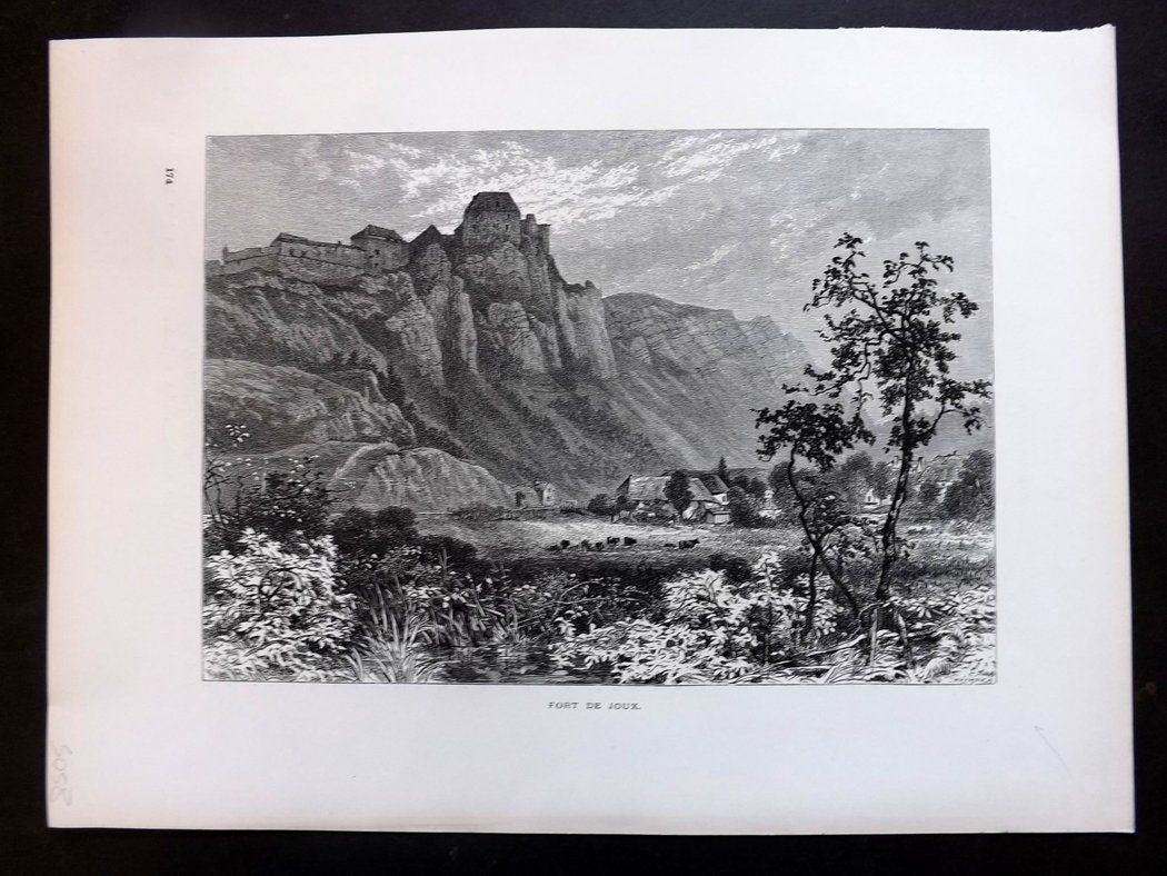 Picturesque Europe C1875 Antique Print. Fort de Joux, France