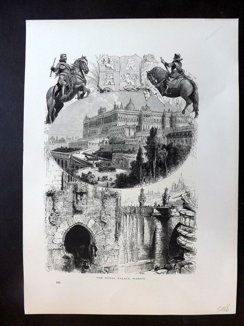 Picturesque Europe C1875 Antique Print. Royal Palace, Madrid