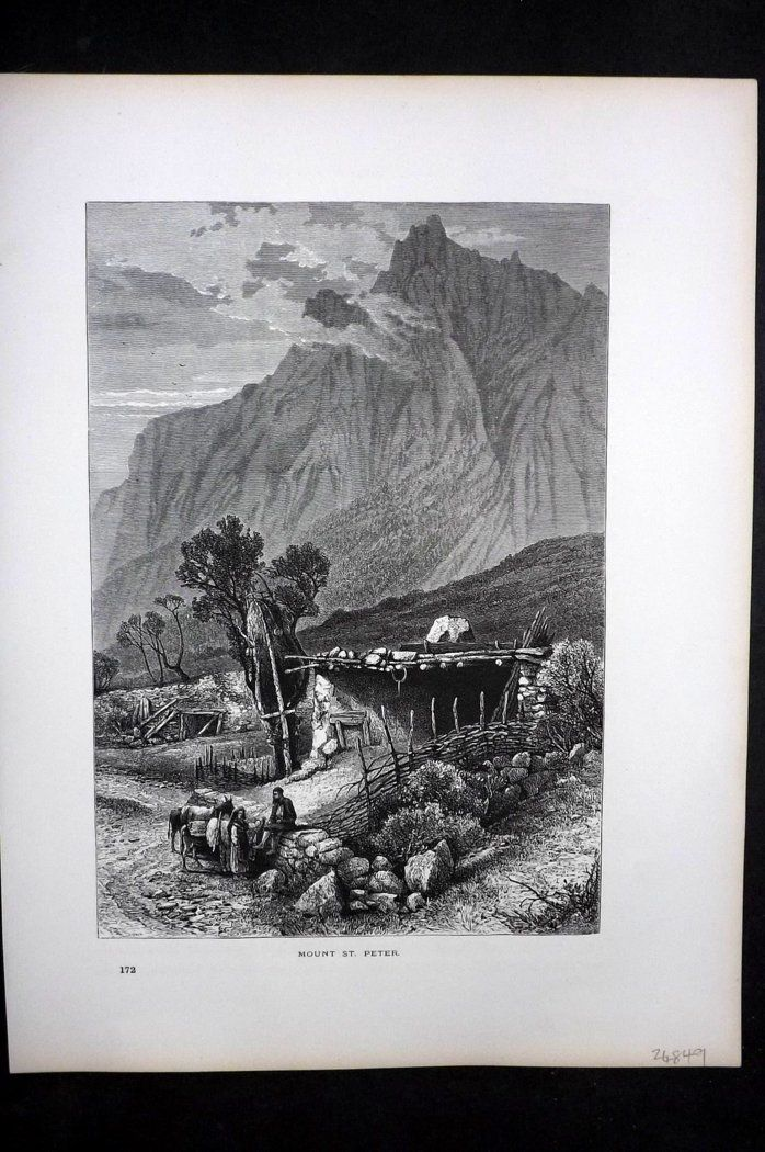 Picturesque Europe 1870s Antique Print. Mount St. Peter, Russia