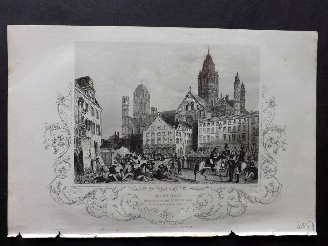 Tallis (Pub) 1854 Antique Print. Mayence Mainz, Germany.