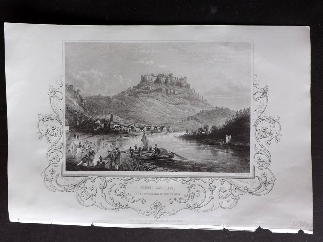 Tallis (Pub) 1854 Antique Print. Konigstein, Germany.