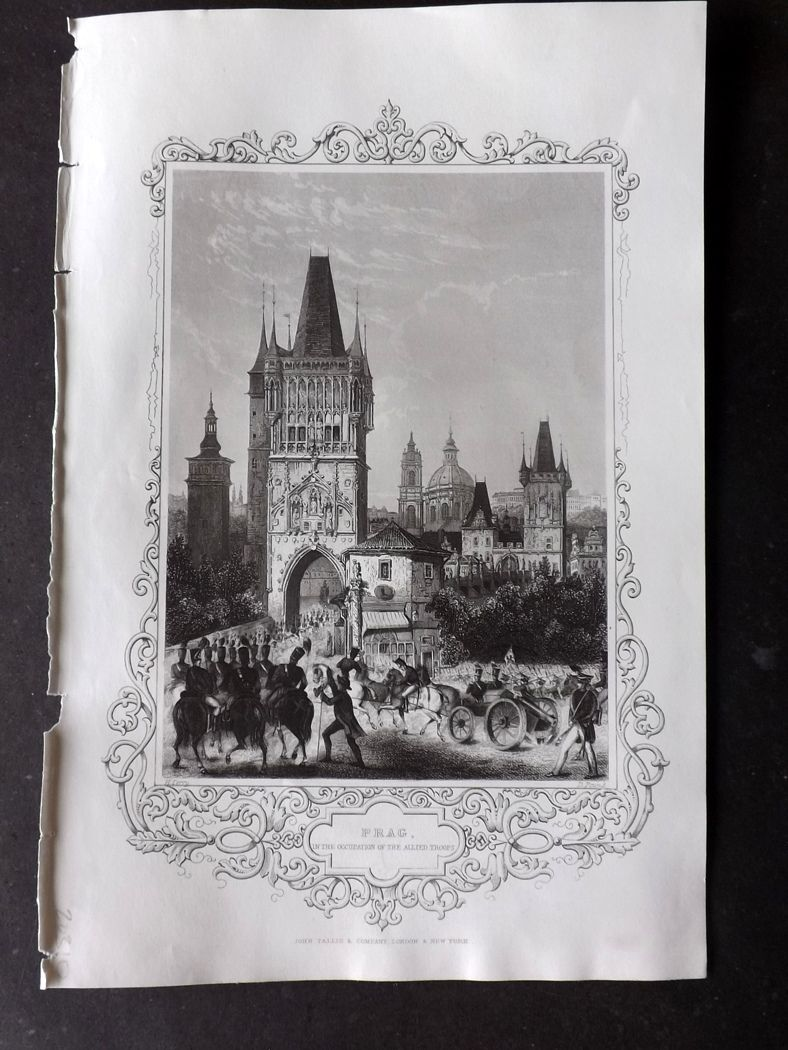 Tallis (Pub) 1854 Antique Print. Prague, Czech Republic.