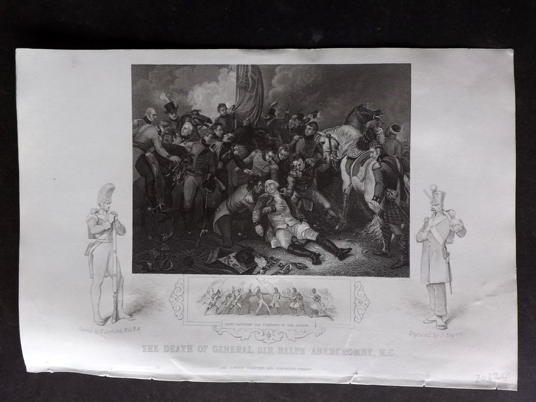 Tallis (Pub) 1854 Military Print. Death of General Sir Ralph Abercromby.