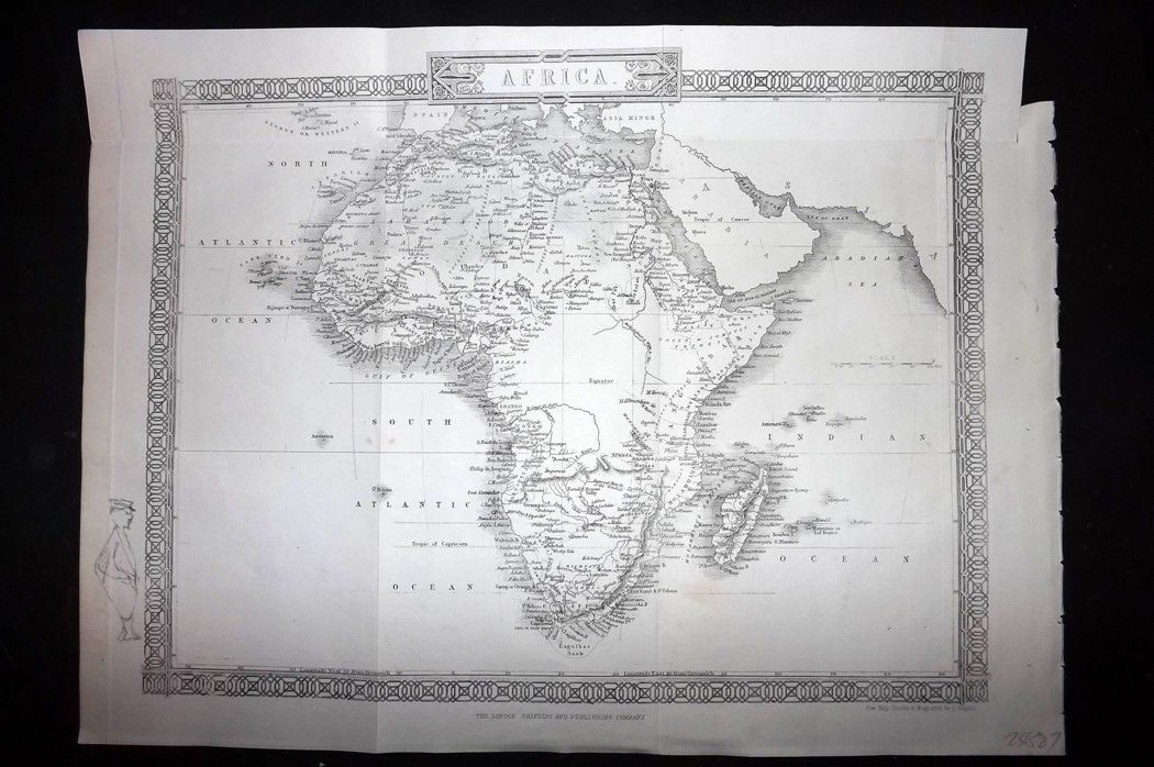 Rapkin 1860 Antique Map. Africa