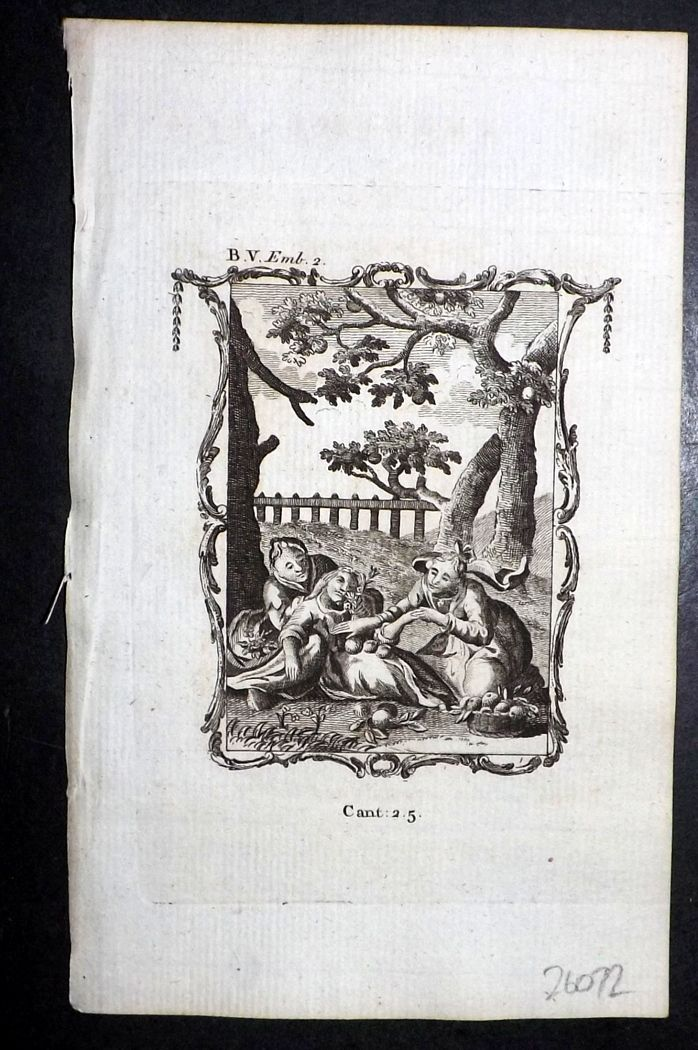 Francis Quarles Emblems 1777 Antique Print 32