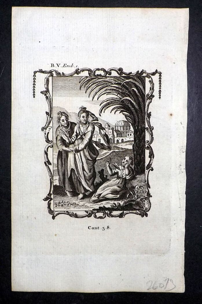 Francis Quarles Emblems 1777 Antique Print 33