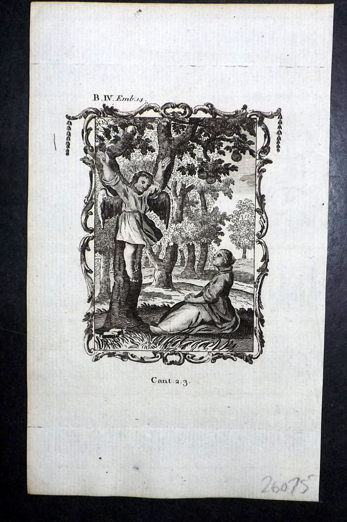 Francis Quarles Emblems 1777 Antique Print 35