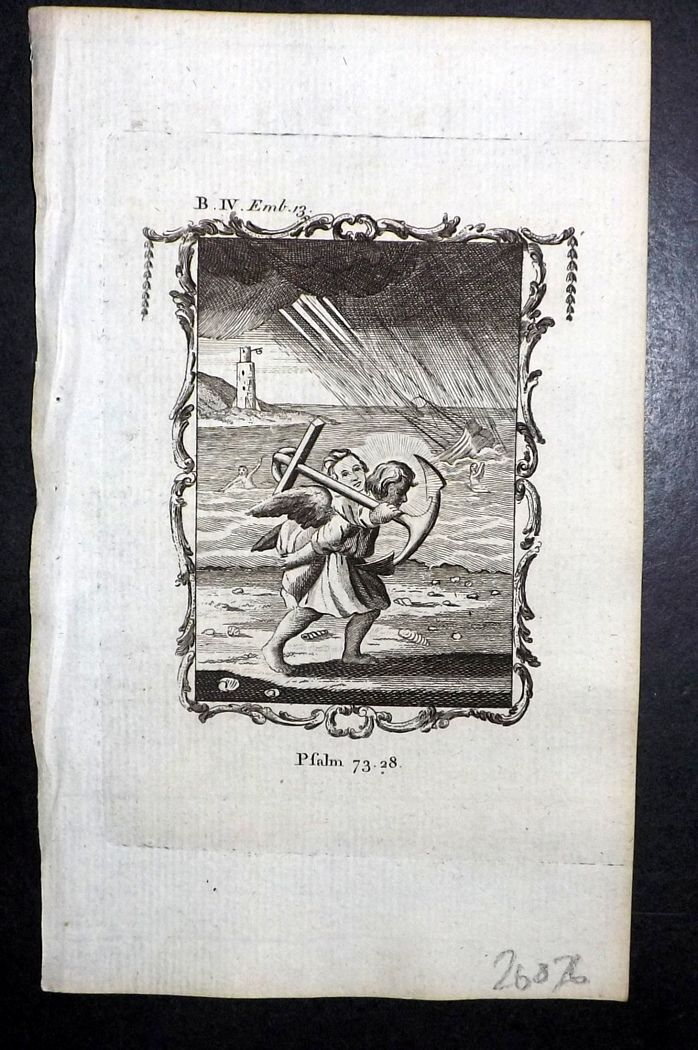 Francis Quarles Emblems 1777 Antique Print 36