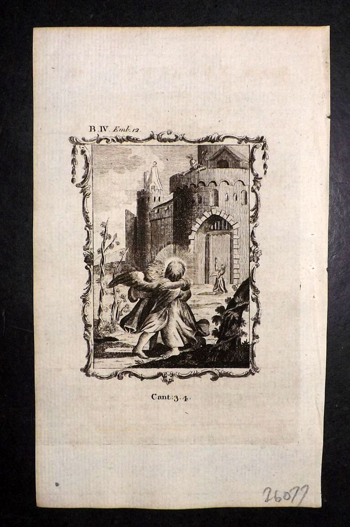 Francis Quarles Emblems 1777 Antique Print 37