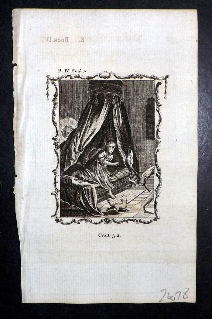 Francis Quarles Emblems 1777 Antique Print 38