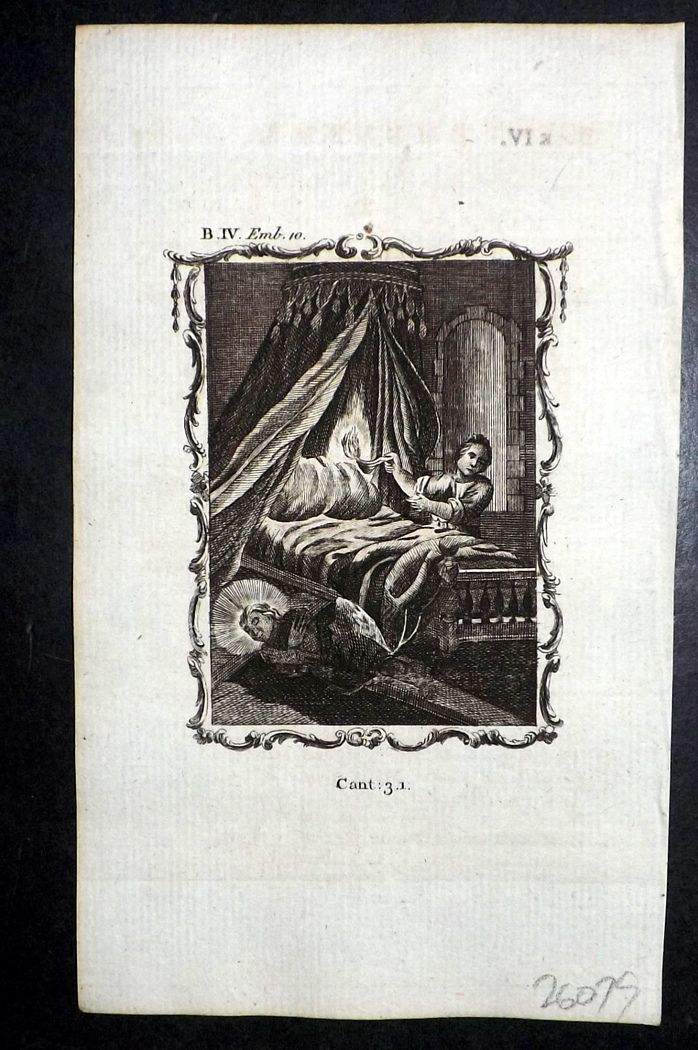 Francis Quarles Emblems 1777 Antique Print 39