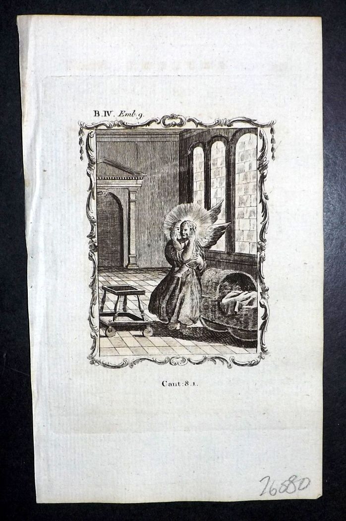 Francis Quarles Emblems 1777 Antique Print 40