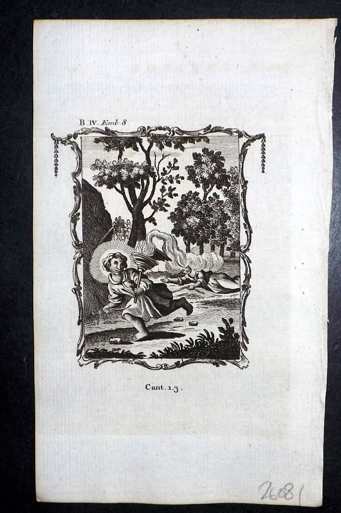 Francis Quarles Emblems 1777 Antique Print 41