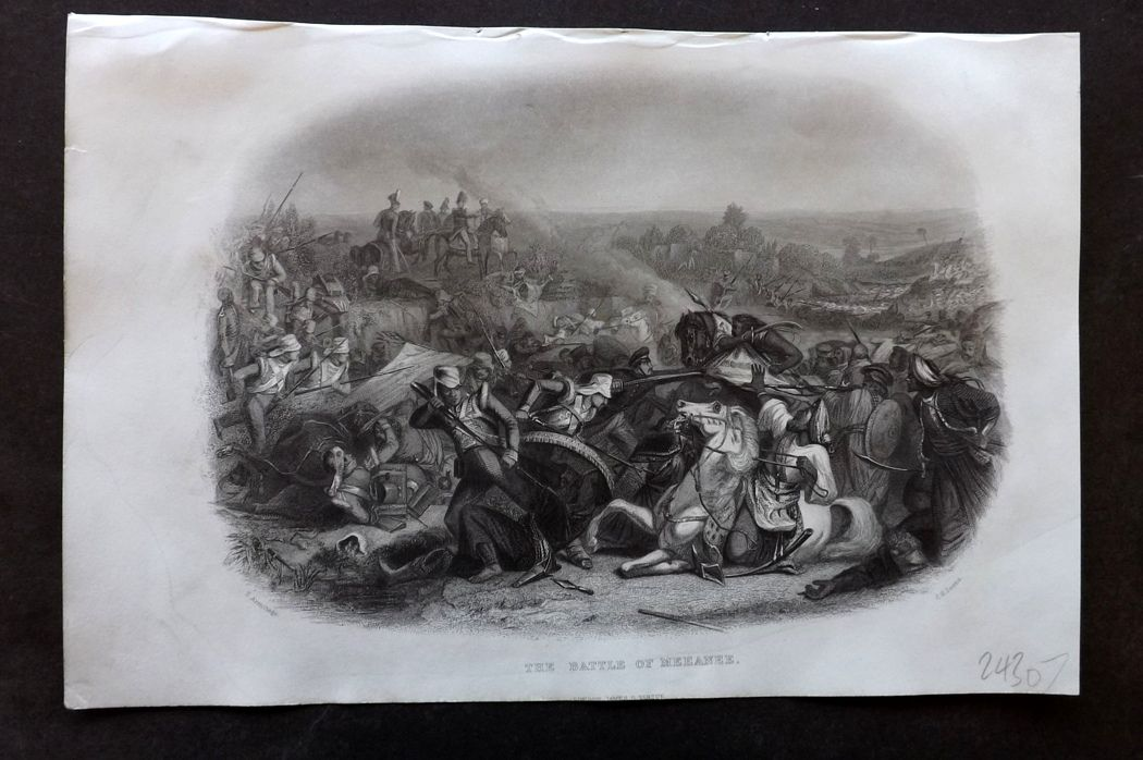 Nolan - India C1880 Antique Print. Battle of Meeanee