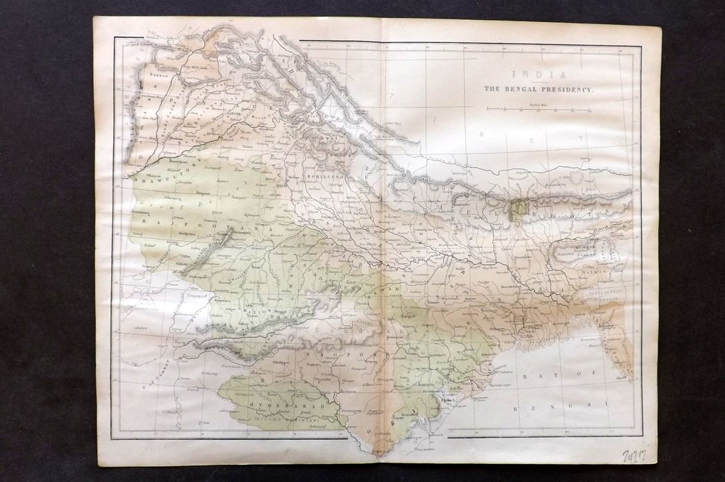 Nolan - India C1880 Antique Map. India The Bengal Presidency