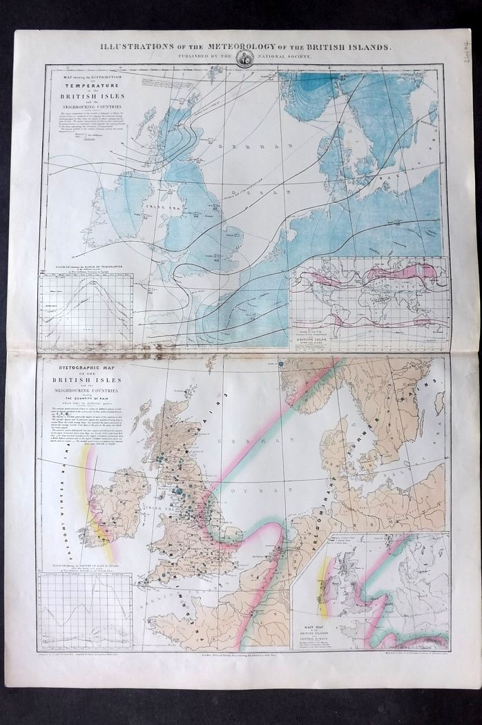 National Society C1870 Illustrations of the Meteorology of the British Islands